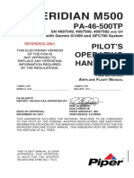 Piper PA-46 M500 Manual
