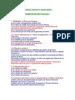 APOSTILA Conhecimentos bancarios - EXERCÍCIOS DE FIXAÇÃO 512- CONCURSOS