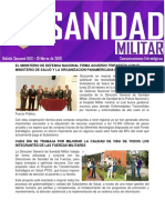 Boletín Semanal Sanidad Militar 01 de Marzo