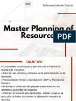 Curso Master Planning of Resources