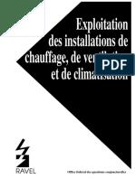 Exploitation des installations cvc