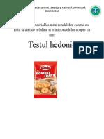 testul hedonic
