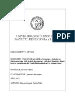 Violencia Literatura Boliviana