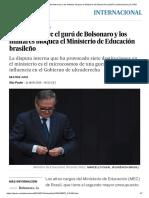La Batalla Entre El Gurú de Bolsonaro y Los Militares Bloquea El Ministerio de Educación Brasileño _ Internacional _ EL PAÍS