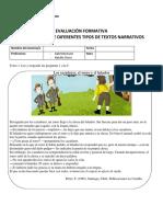 Evaluación Formativa de Textos Narrativos