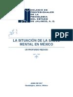 SITUACIÓN DE SALUD MENTAL EN MÉXICO
