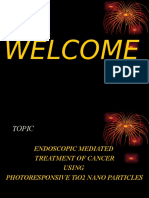 ENDOSCOPIC MEDIATED  TREATMENT OF CANCER USING  PHOTORESPONSIVE TiO2 NANO PARTICLES