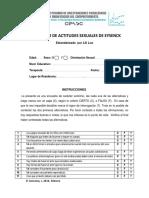Escala Del Inventario de Actitudes Sexuales de Eysenck 2016