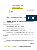 ADE - Matemática - 8º Ano Do Ensino Fundamental
