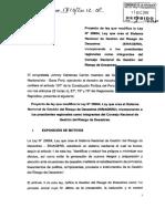 Proyecto de Ley Definiciones de SINAGERD