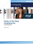 Microsoft - Privacy in the Cloud Computing Era