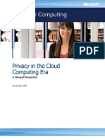 Microsoft - Privacy in the Cloud Computing Era