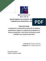 La Apariencia y Características Físicas de Los Modelos Publicitarios