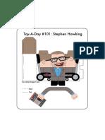 Stephen Hawking Paper Toy
