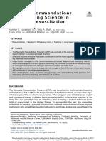 Recent Recommendations Neonatal Resucitation