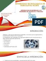 Integracion de los materiales en La Ingenieria Del Producto y Proceso de produccion