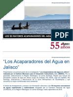 Los 50 mayoresc aparadores del agua en Jalisco - Presentación