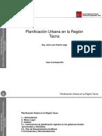 3.- Avances de La Planificación Urbana en La Región Tacna - Arq. Jose Luis Vicente Vega -DRSVCS