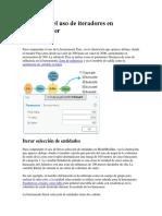 Ejemplos Del Uso de Iteradores en ModelBuilder