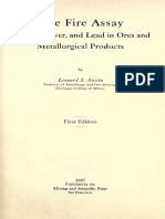 Austin L.S. - The fire assay of gold, silver and lead in ores and metallurgical products .pdf