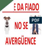 NO SE DA FIADO