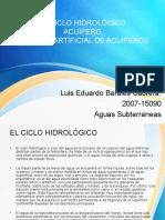 El Ciclo Hidrológico, Acuiferos y Descarga Artíficial de Acuiferos