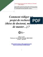 Comment Faire Un Projet de Thèse Ou de Recherche Par Didier Courbet