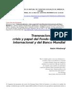 Minsburg-Trasnac_FMI y Banco Mundial