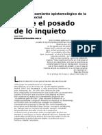 Nota Campo Grupal 93 Para Un Pensamiento Epistemológico de La Psicología Social