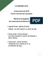 Tercer Viernes 2019