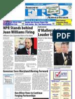 Baltimore Afro-American Newspaper, October 30, 2010