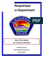 APD Use of Force Report -- 2016-2017