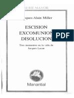 Escisión, Excomunión, Disolución - Jacques Alain Miller.pdf