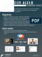 Alelo Simulations - Flyer in Spanish - For Students