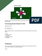 Pembahasan Kimia UN Bentuk Molekul