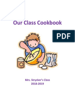 our class cookbook 2019
