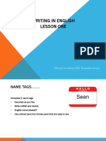 Writing in English Lesson_1