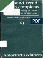 FREUD, Sigmund (1901) - Obra completa, VI. Psicopatología de la vida cotidiana (Amorrortu, Buenos Aires, 1980-1991).pdf