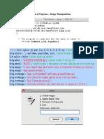Java Image Manipulation Program Explained