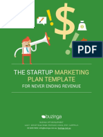 The Startup Marketing Plan Template for Never Ending Revenue