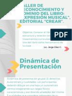 """TALLER DE RECONOCIMIENTO Y DOMINIO DEL LIBRO_ """"EXPRESIÓN MUSICAL"""", EDITORIAL """"CREAR""""..pdf"""