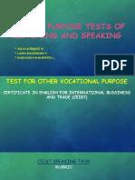 Assessment Speaking & Listening
