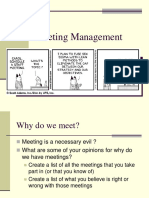 Conducting Meeting Management
