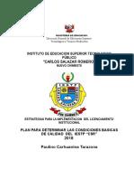 Plan de Trabajo de Cbc 2018- Licenciamiento