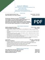 teacher resume - google docs