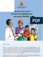 prevention early identification and intervention of disabilities