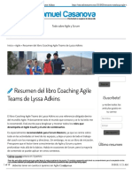 Resumen coaching Agile