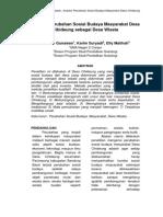 Analisi Perubahan Sosial Budaya Masyarakat Desa