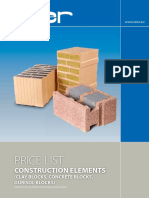 Price List Construction Elements 2016
