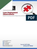 Lean Deployment Checklist